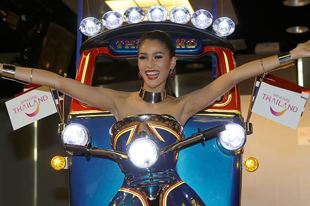 Miss Thailand in the Tuk-Tuk costume that wowed judges