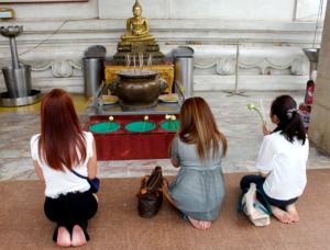 Dawn Jorgensen. Day Trip to Ayutthaya. Temple Prayers