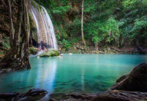 Amazing Thailand. Kanchanaburi. Erawan Water Falls