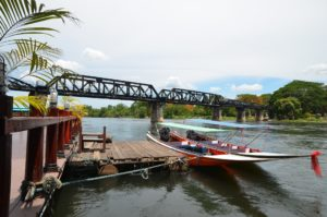Amazing Thailand. Kanchanaburi. River Kwai With Boats