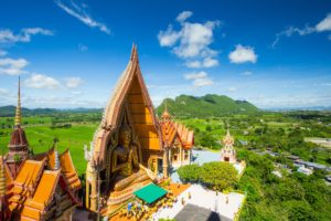 Amazing Thailand. Kanchanaburi. Tham Sua Temple