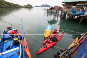 Kayaking at Mai Si Island, Trat