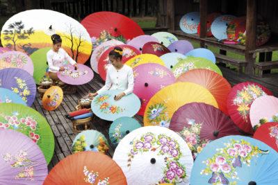 Umbrella Painting, Chiang Mai
