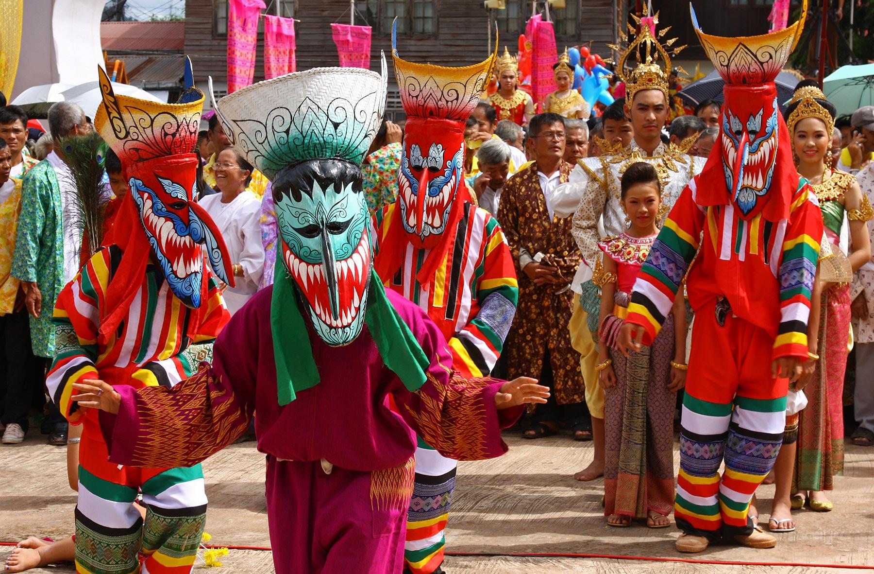 Phi Ta Khon the Ghost Festival