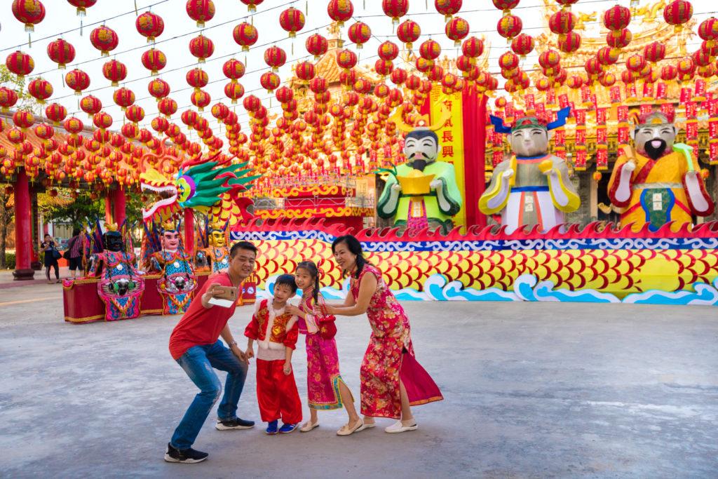 Lantern Festival in Pak Nam Town, Samut Prakan