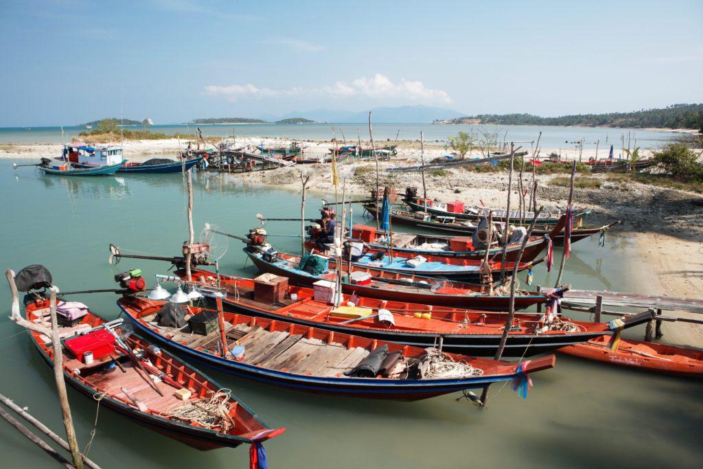Surat-Thani-Samui Island, fishing boats